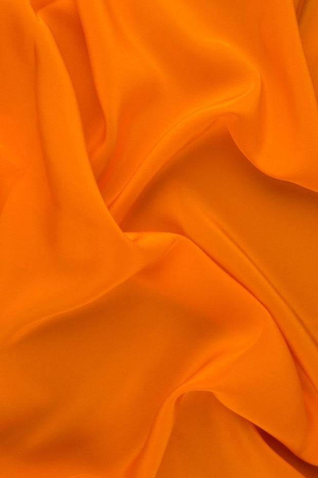 Persimmon Silk Crepe de Chine Fabric