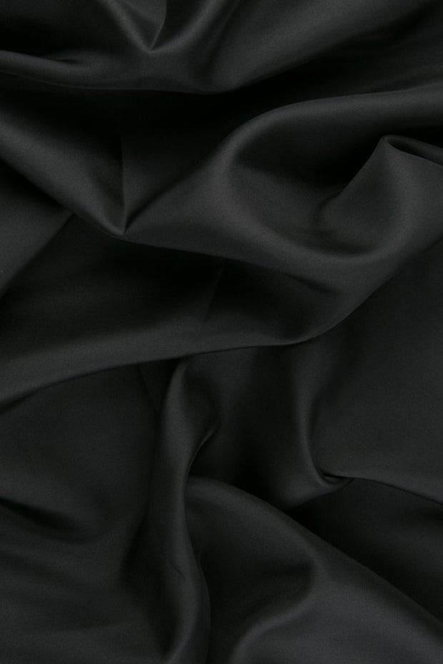 Pewter Habotai Silk Fabric