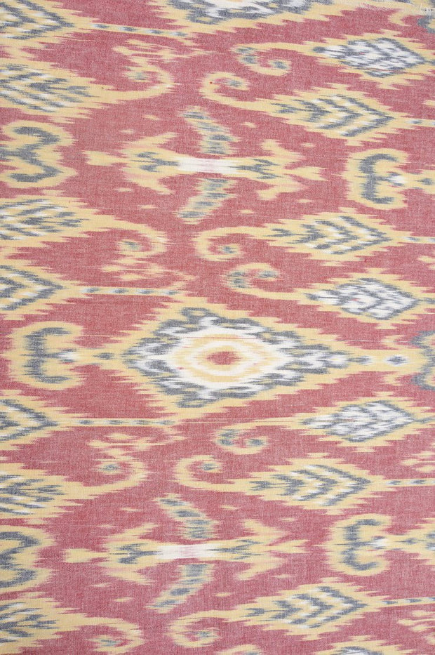 Rust Cotton Ikat 103 Fabric