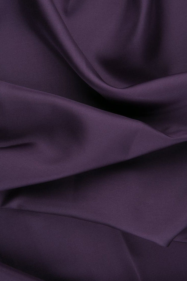 Plum Habotai Silk Fabric