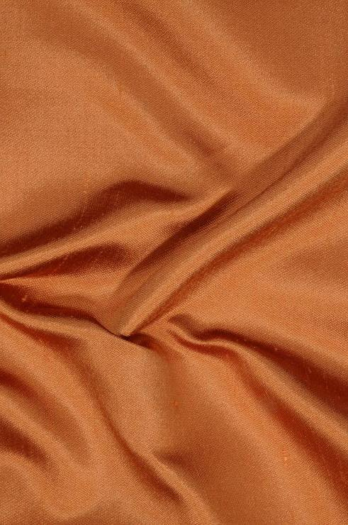 Pumpkin Orange Italian Shantung Silk Fabric