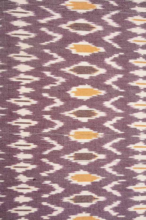 Purple Ash Cotton Ikat 80 Fabric