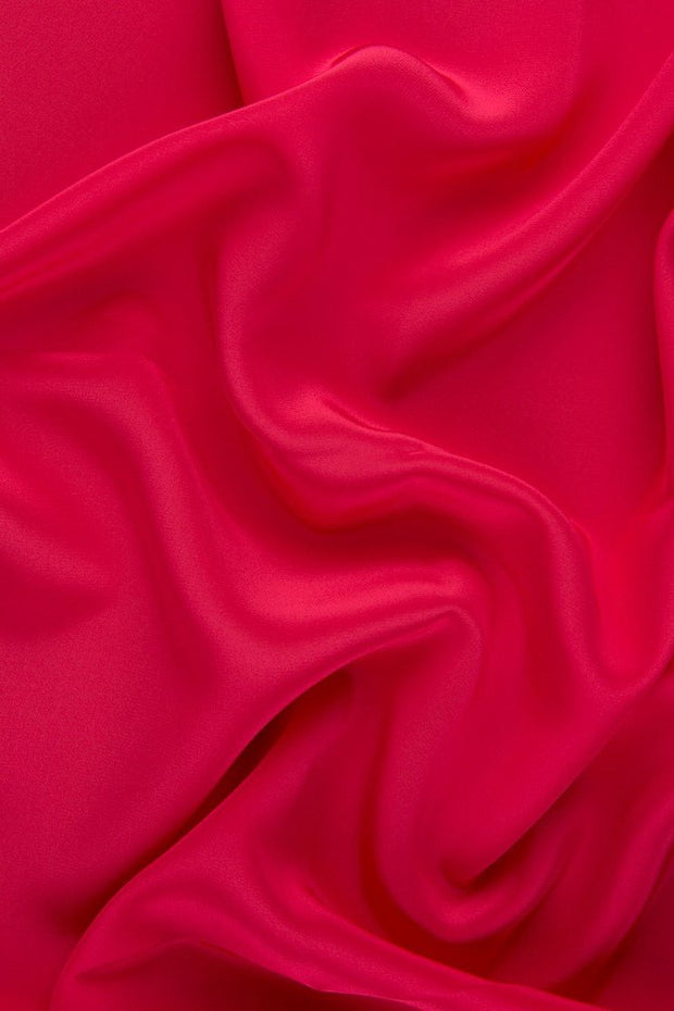 Raspberry Silk Crepe de Chine Fabric
