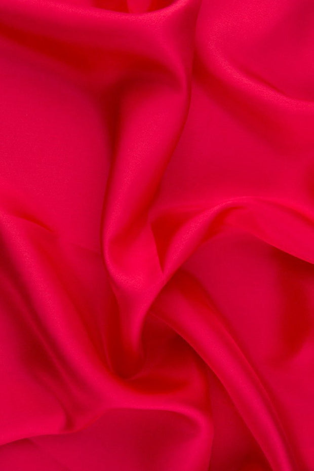Raspberry Habotai Silk Fabric