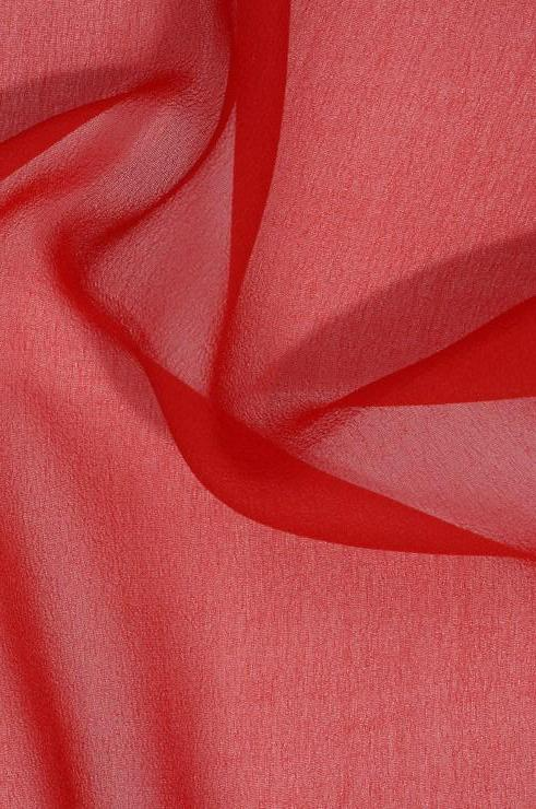 Red Silk Georgette Fabric