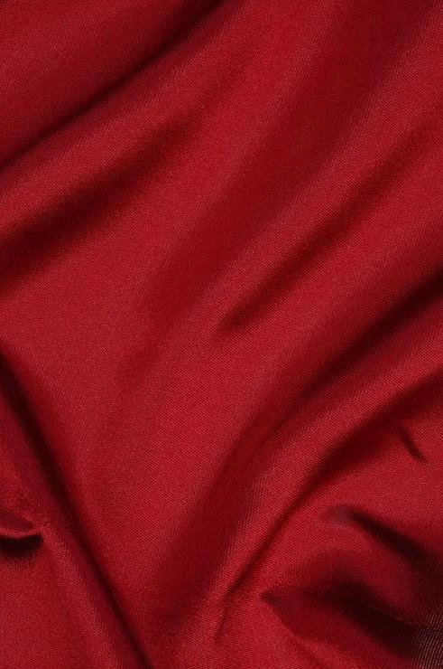 Red Silk Zibeline Fabric