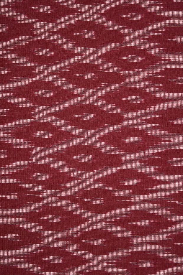 Red Cotton Ikat 40 Fabric