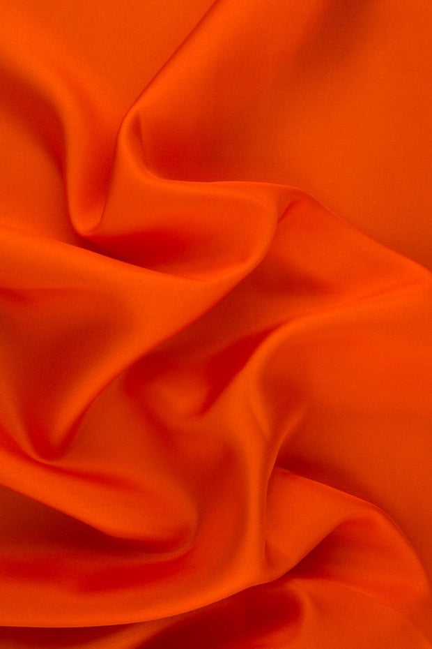 Red Orange Habotai Silk Fabric