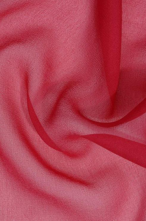 Red Pink Tint Silk Georgette Fabric