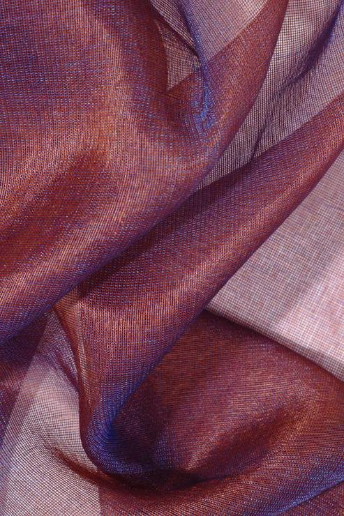 Red Violet Silk Organza Fabric