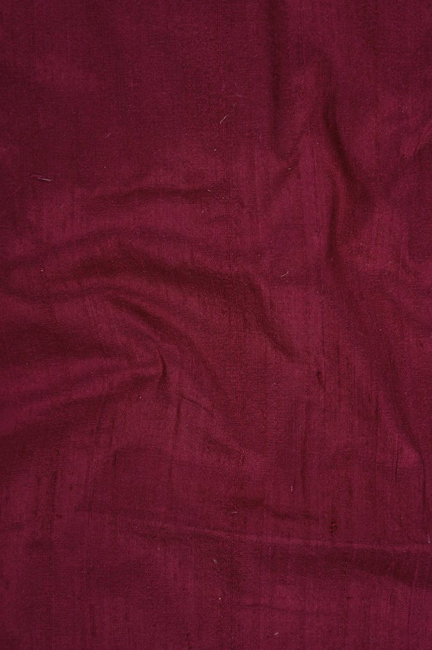 Red Wine Dupioni Silk Fabric