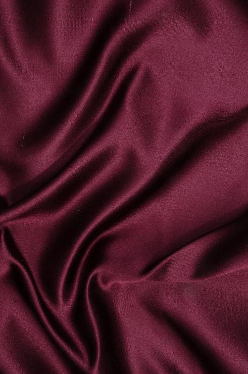 Red Wine Double Face Duchess Satin Fabric