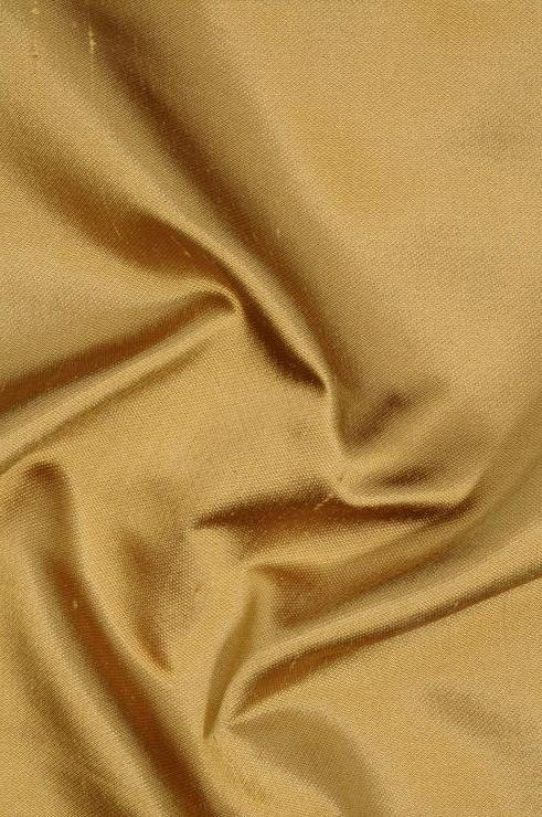 Rich Gold Italian Shantung Silk Fabric