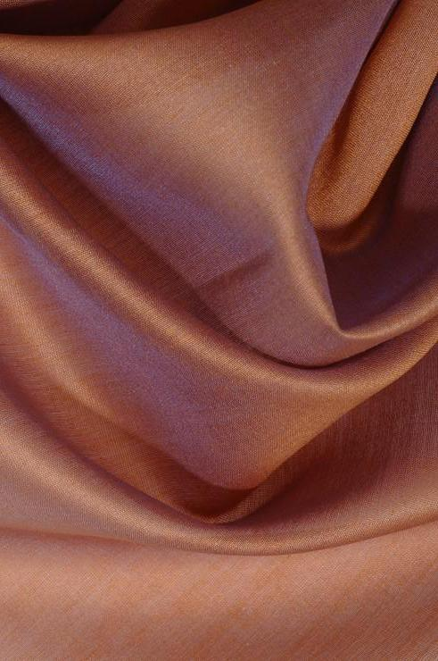 Rose Brown Cotton Silk Fabric