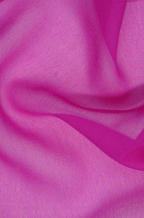 Rose Violet Silk Georgette Fabric