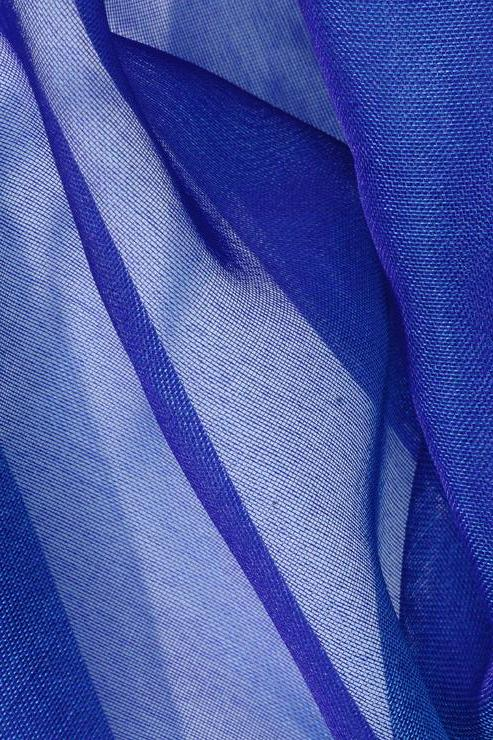 Royal Blue Silk Organza Fabric