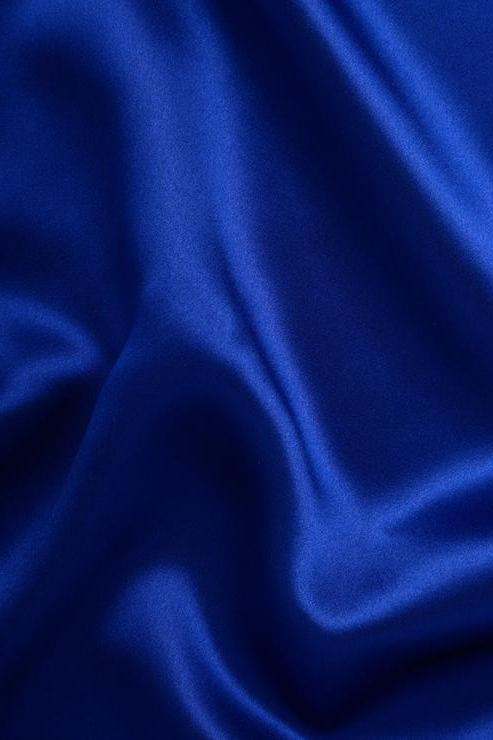 Royal Blue Charmeuse Silk Fabric