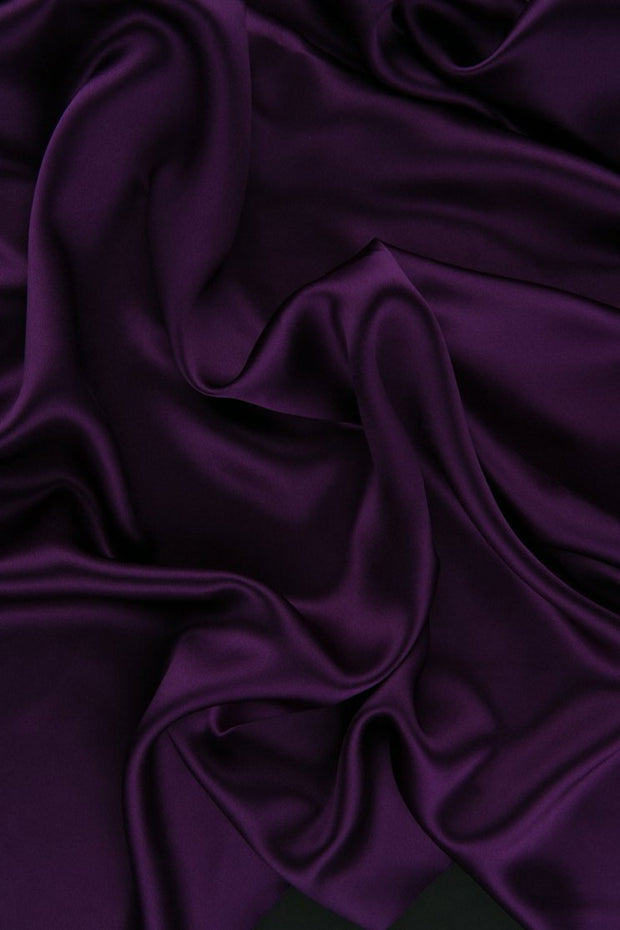 Royal Purple Charmeuse Silk Fabric