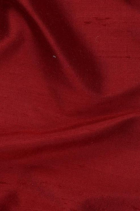 "Ruby Red Silk Shantung 54"" Fabric"