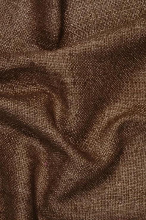 Rust Silk Linen (Matka) Fabric