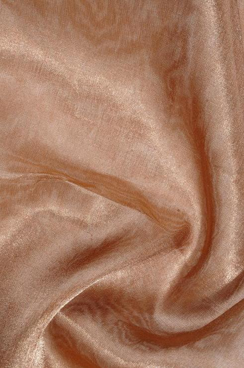 Rust Gold Metallic Organza Fabric