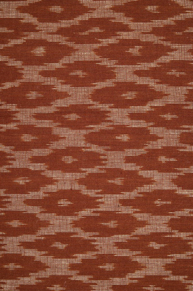 Brown Cotton Ikat 040 Fabric