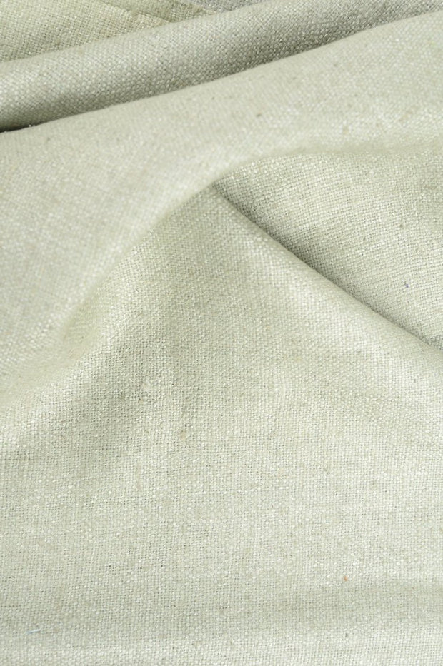 Sage Green Silk Linen (Matka) Fabric