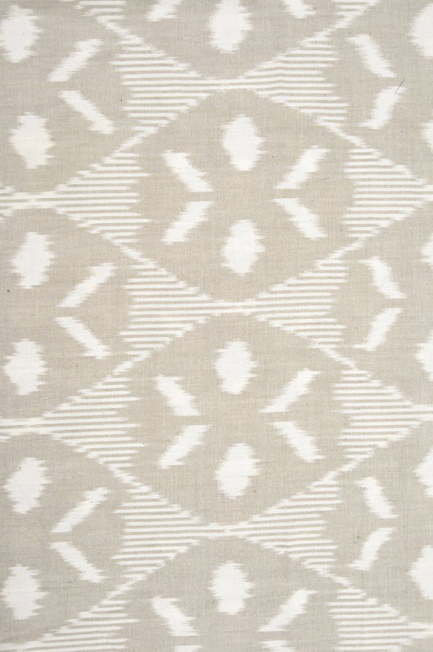 Ecru Cotton Ikat 139 Fabric