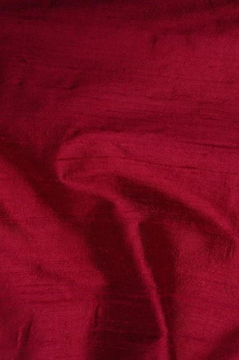Sangria Red Dupioni Silk Fabric