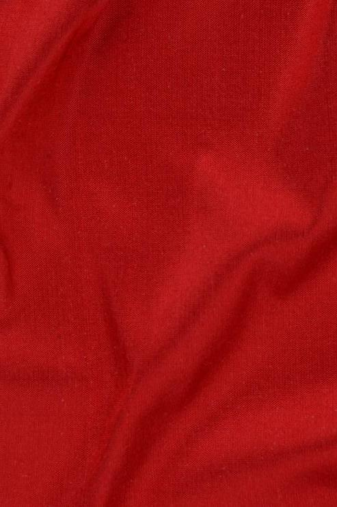 "Scarlet Red Silk Shantung 54"" Fabric"