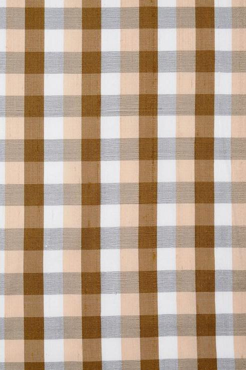 Multi-Color Check Plaid Silk Shantung 75 Fabric