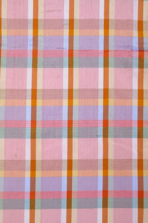 Light Pink Madras Plaid Silk Shantung 76 Fabric