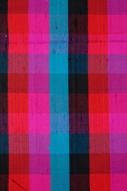 Multi-Color Check Plaid Silk Shantung 158 Fabric