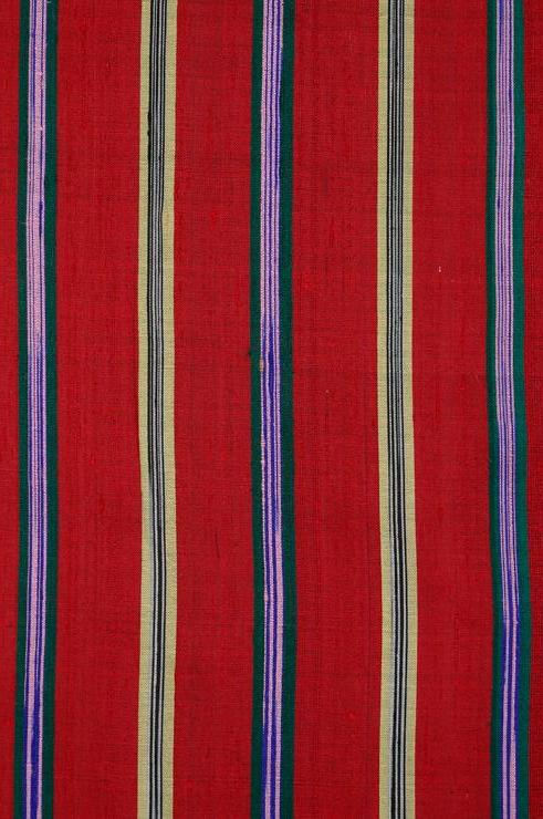 Red Striped Silk Shantung 14 Fabric