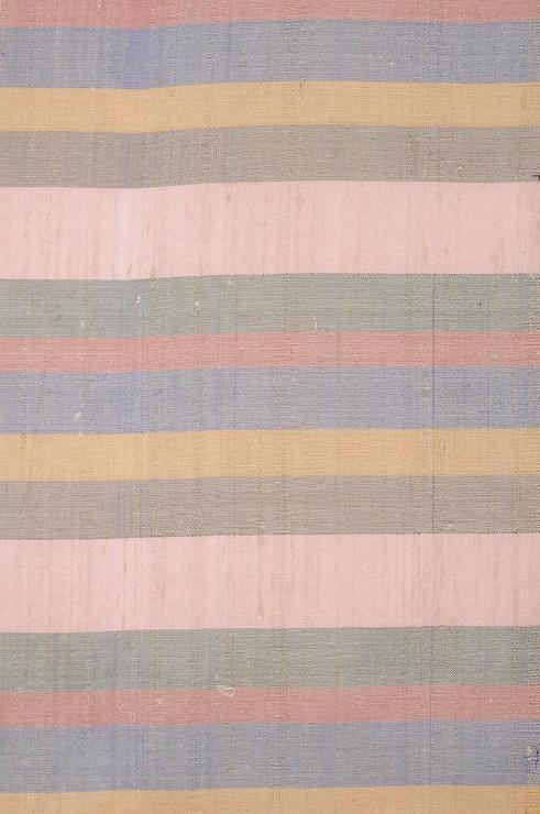 Peach Striped Silk Shantung 29 Fabric