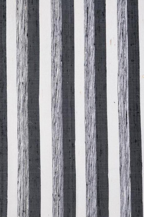 Black White Striped Silk Shantung 49 Fabric