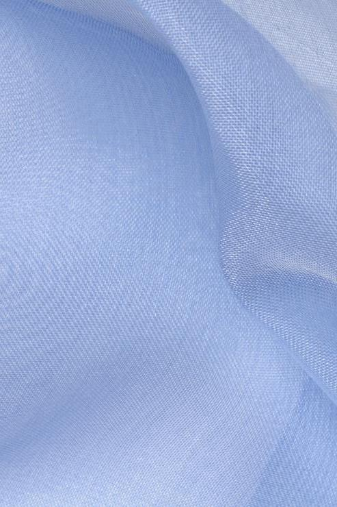 Sky Blue Silk Organza Fabric