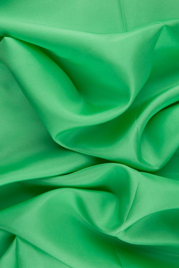 Spring Green Habotai Silk Fabric