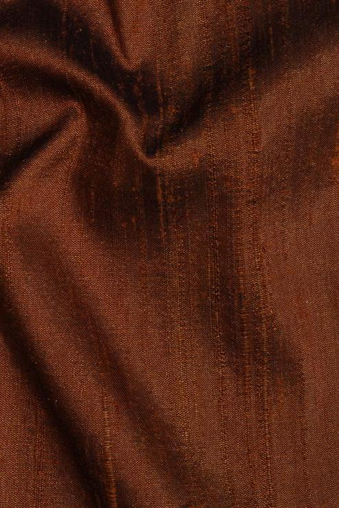 "Caramel Brown Silk Shantung 54"" Fabric"