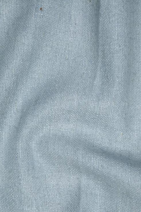 Stormy Sea Blue Silk Linen (Matka) Fabric