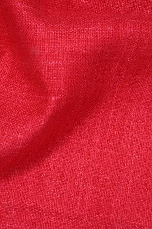 Strawberry Silk Linen (Matka) Fabric
