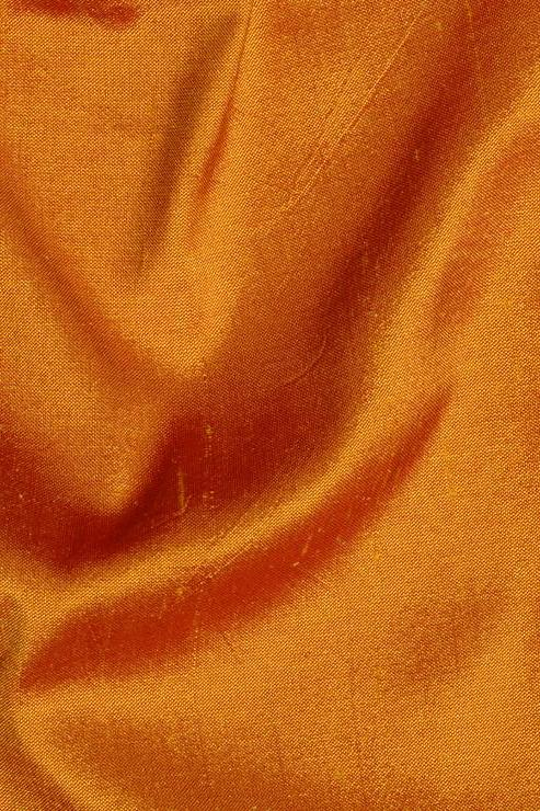 "Sunset Orange Silk Shantung 54"" Fabric"