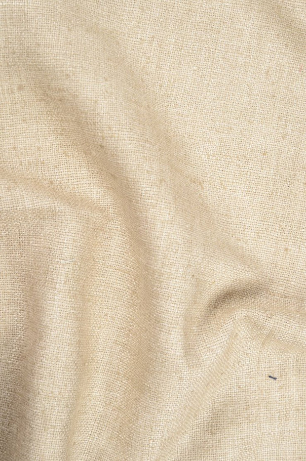Tan Beige Silk Linen (Matka) Fabric