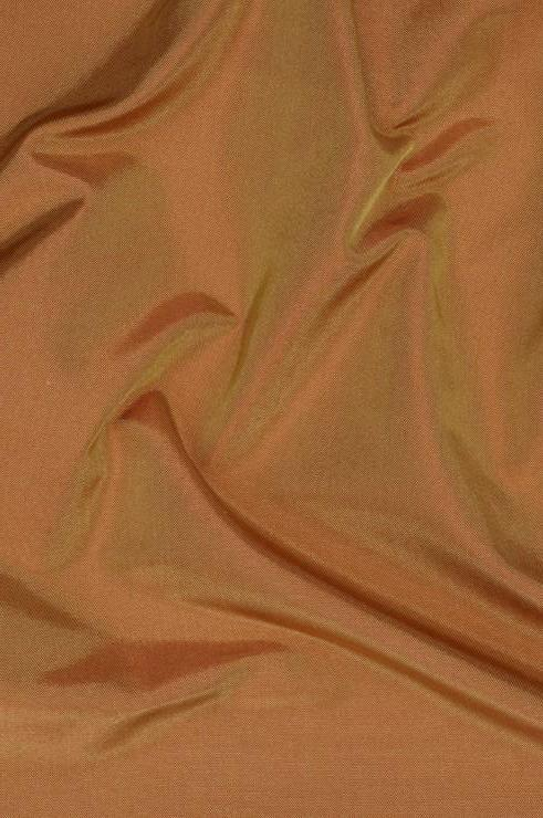 Tan Gold Taffeta Silk Fabric