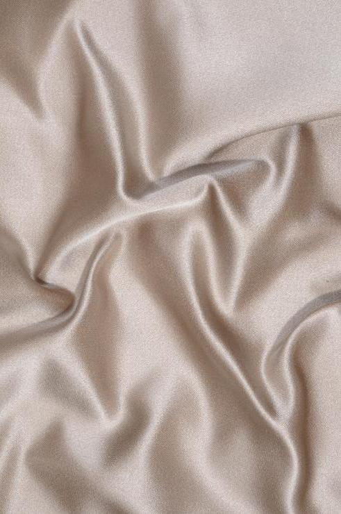 Tan Taupe Double Face Duchess Satin Fabric