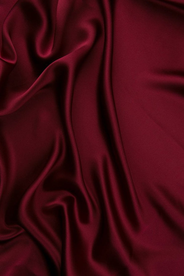 Tibetan Red Charmeuse Silk Fabric