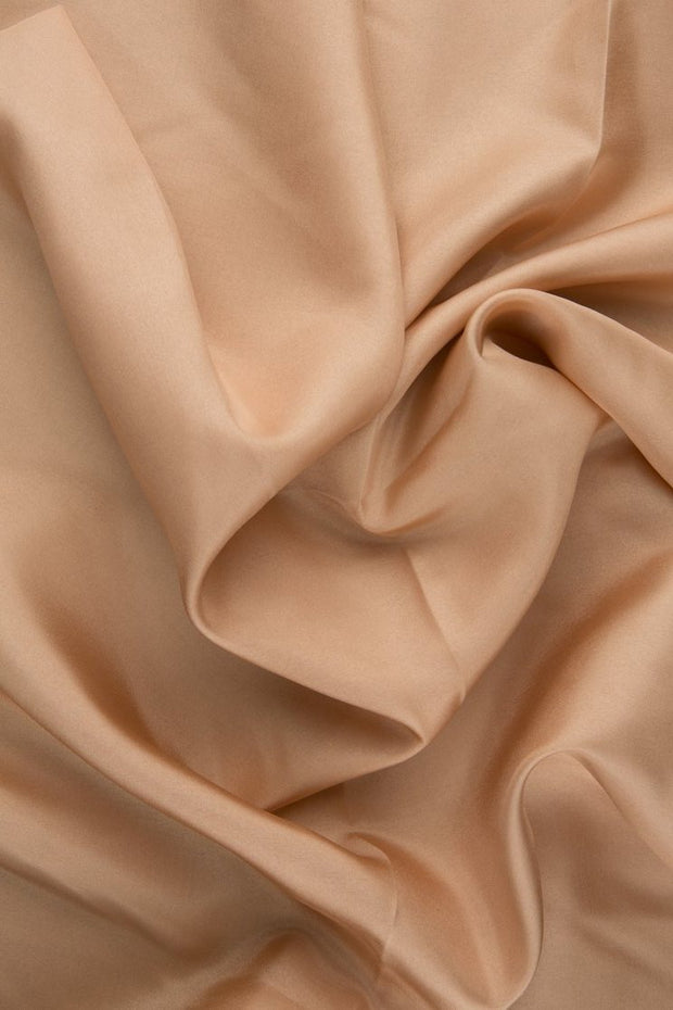 Toasted Almond Habotai Silk Fabric