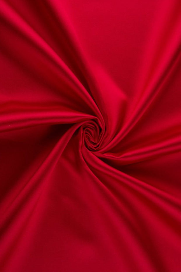 True Red Silk Wool Fabric