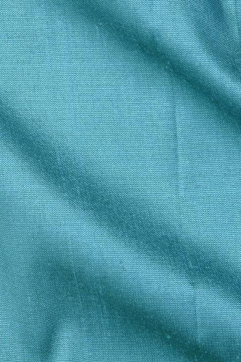 "Turquoise Blue Silk Shantung 54"" Fabric"