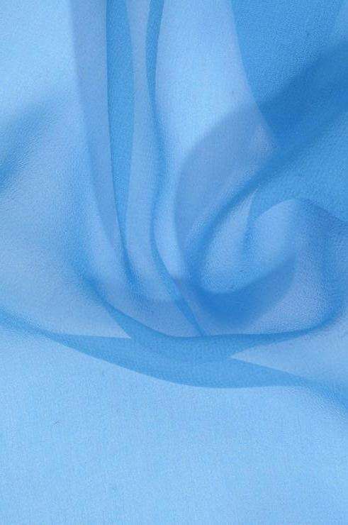 Turquoise Blue Silk Georgette Fabric
